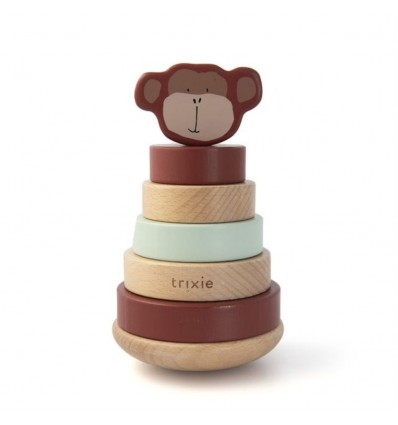Trixie Baby - Wooden Stacking Toy - Mr. Monkey
