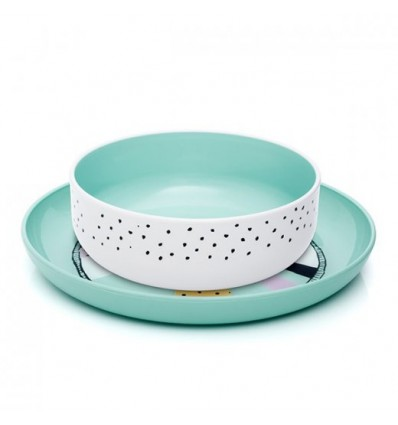 S Plate Bowl 3G Green
