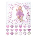 DELUXE Baby's First Year™ Blanket & Card Set - With Brave Wings She Flies