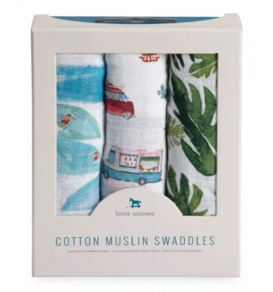 3-Pack Cotton Muslin Swaddle