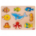 Ocean animals, lift-out puzzle