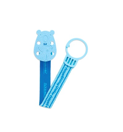 Bear Soother Clip with Ribbon