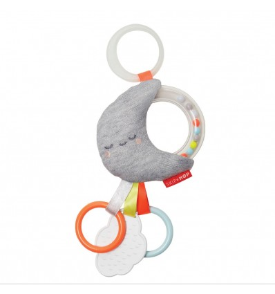 Silver Lining Rattle Stroller Toy Moon