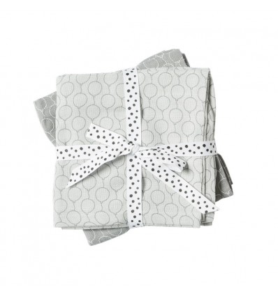 Done by deer - Swaddle,2-pack,Balloon,grey