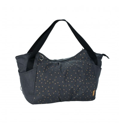 LÄSSIG Casual Twin Diaper Bag, Triangle Dark Grey