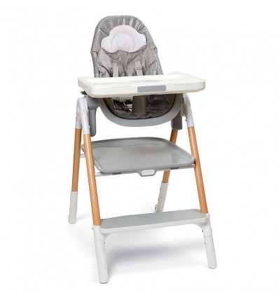Skip Hop: Sit-To-Step Highchair Grey/White